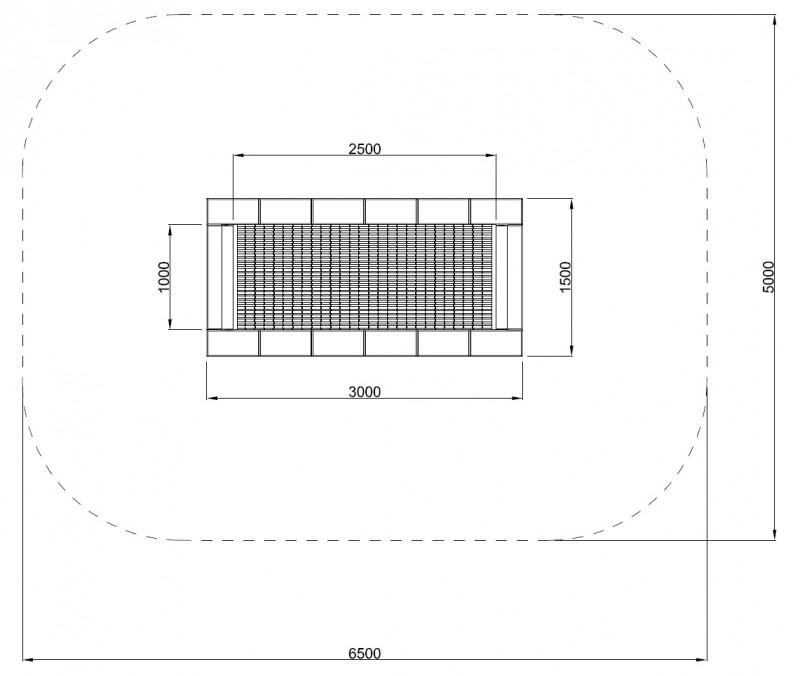 Plac zabaw Trampolina Orta-I 150 x 300 PLAY-PARK