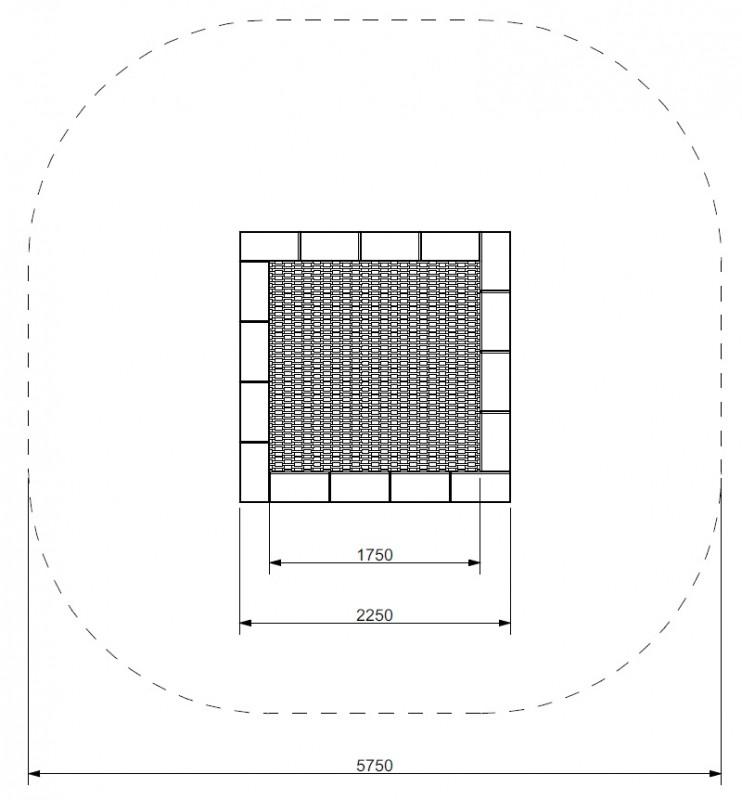 Plac zabaw Trampolina Pako 225 PLAY-PARK