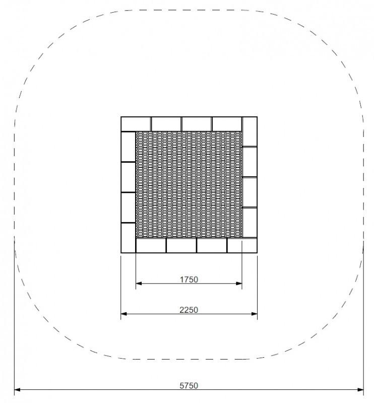 Plac zabaw Trampolina Pako 225 WP PLAY-PARK