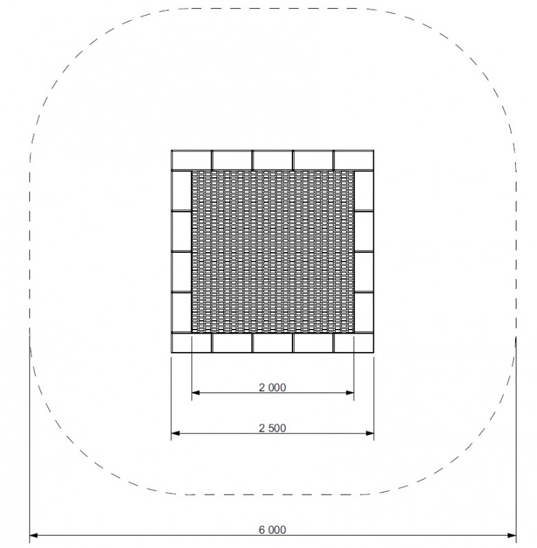 Plac zabaw Trampolina Pako 250 PLAY-PARK