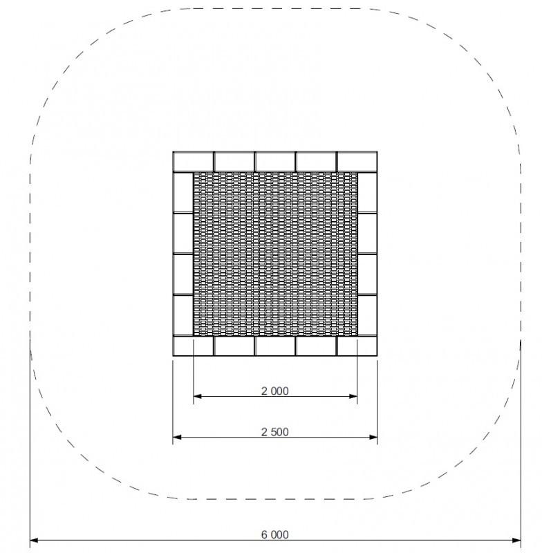 Plac zabaw Trampolina Pako 250 WP PLAY-PARK