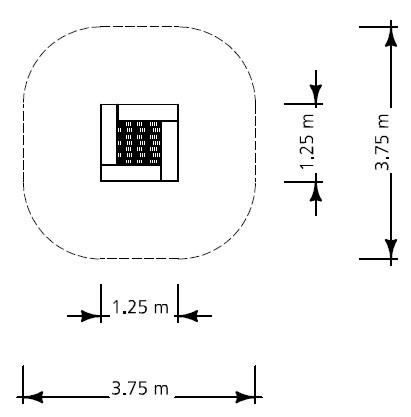 Plac zabaw Trampolina Switch - element służący do budowy modułów  Play Park