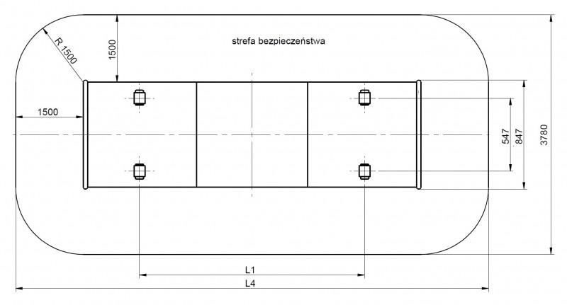 Plac zabaw Tunel skarpowy 250 - standard PLAY-PARK