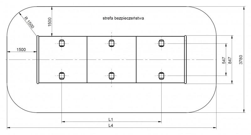 Plac zabaw Tunel skarpowy 500 - standard PLAY-PARK