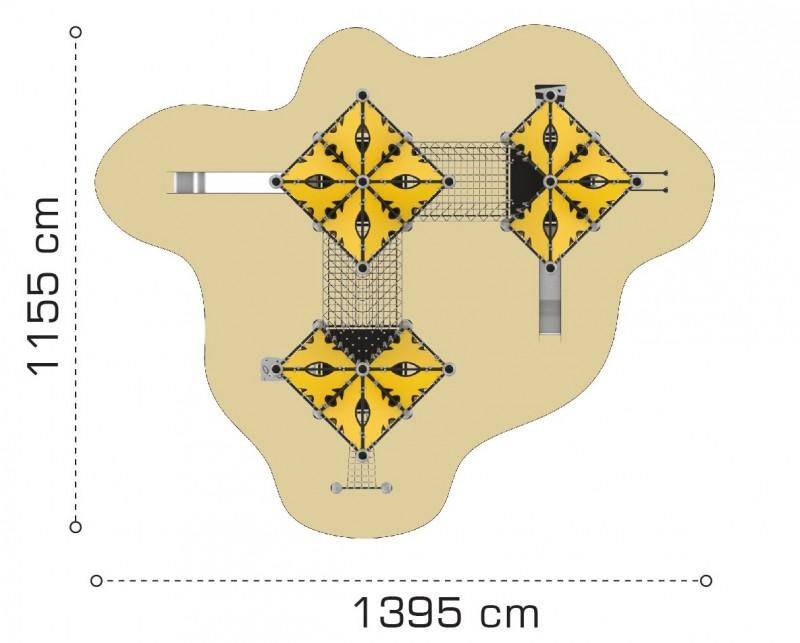 Plac zabaw Domek Indiański 13 PLAY-PARK