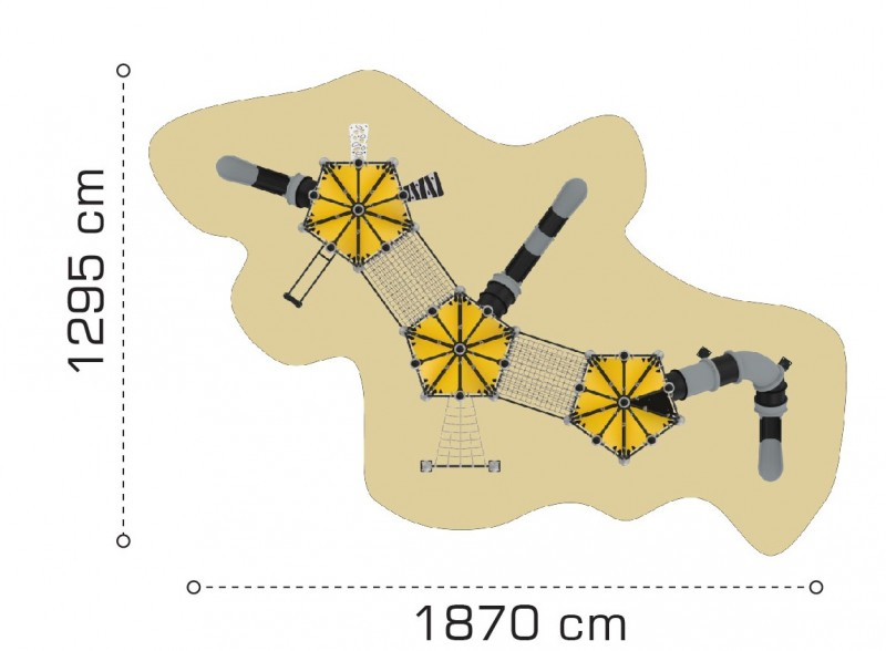Plac zabaw Domek Indiański 24 PLAY-PARK