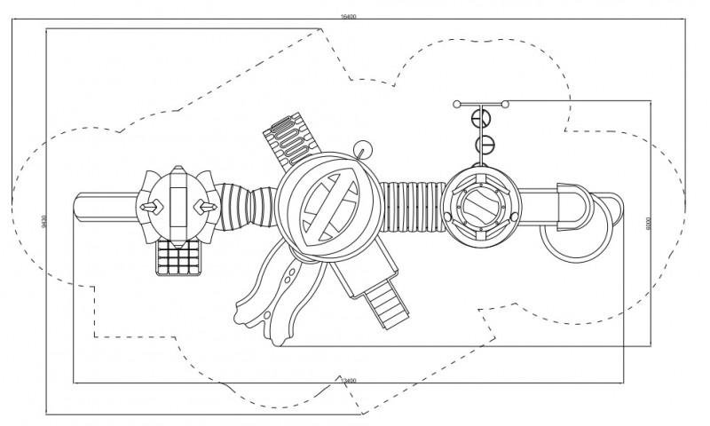 Plac zabaw Zestaw Robot 1  PLAY-PARK