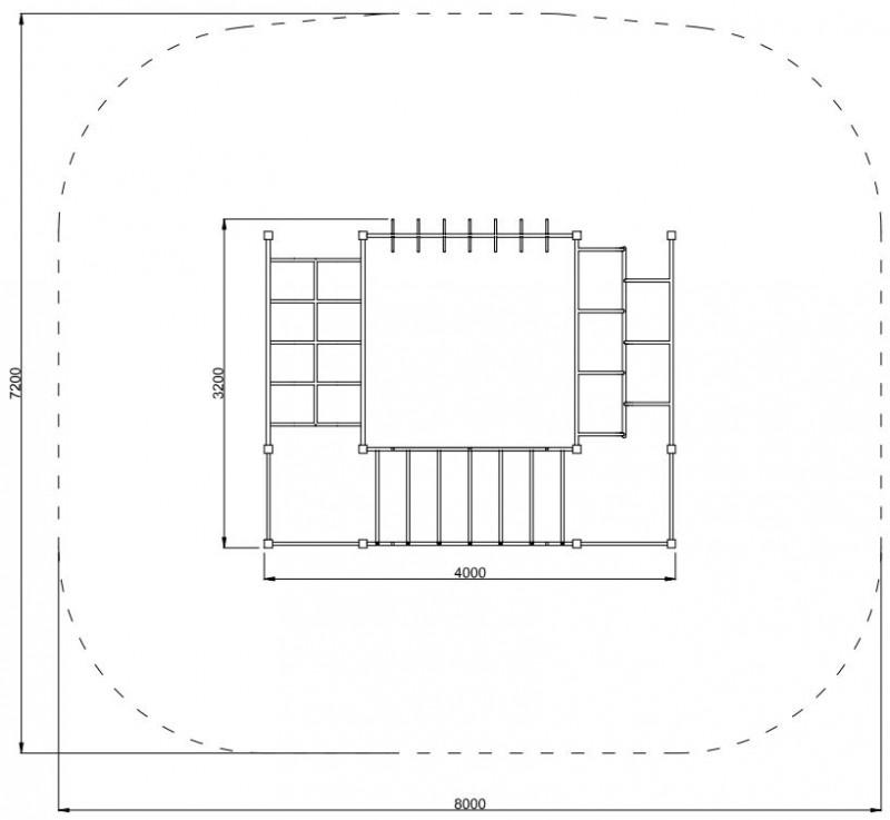 Plac zabaw Zestaw gimnastyczny 12 PLAY-PARK