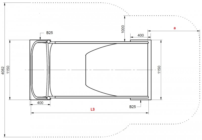 Plac zabaw Zjeżdżalnia skarpowa szeroka 2,29 m PLAY-PARK