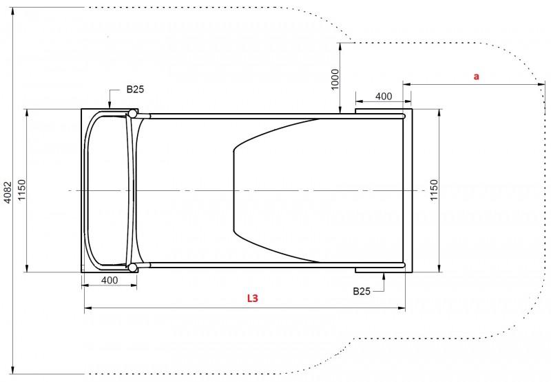 Plac zabaw Zjeżdżalnia skarpowa szeroka 3,84 m PLAY-PARK